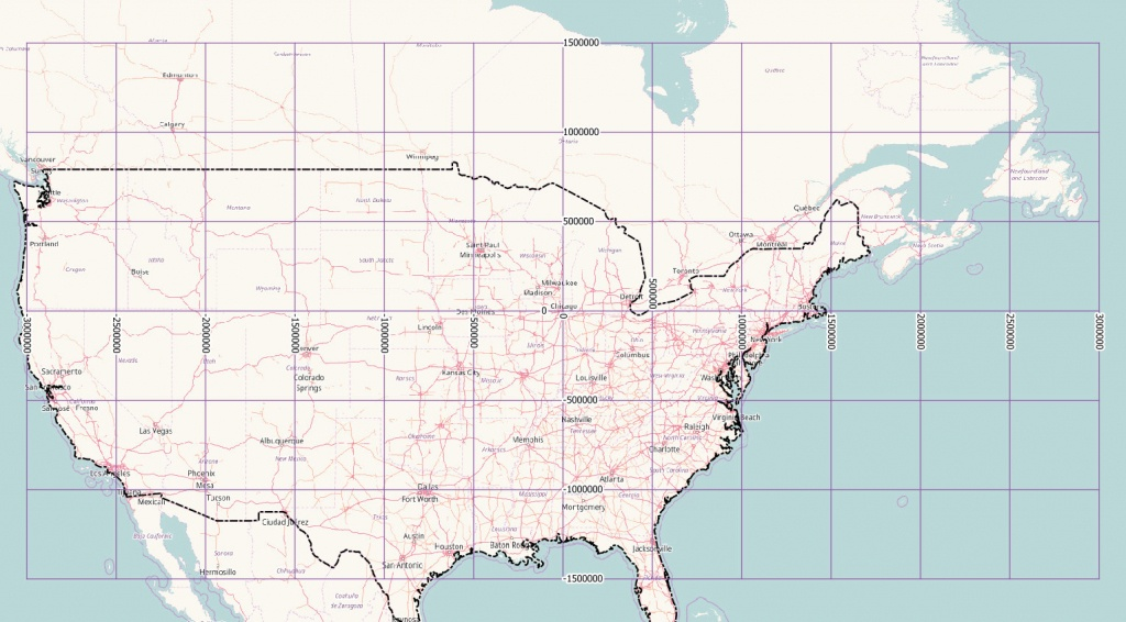 Latitude Longitude Map Of Us | Sitedesignco - Us Map With Latitude And Longitude Printable