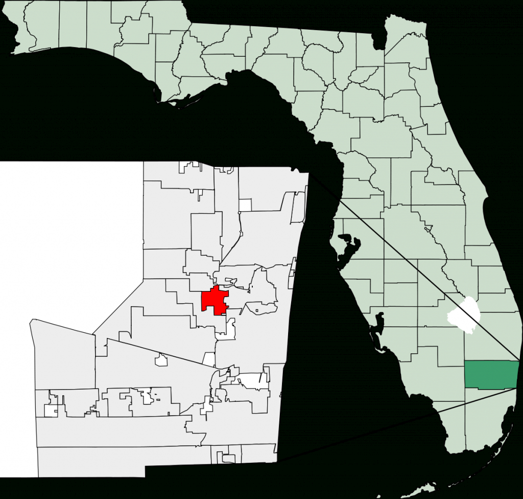 Lauderdale Lakes, Florida - Wikipedia - Miami Lakes Florida Map