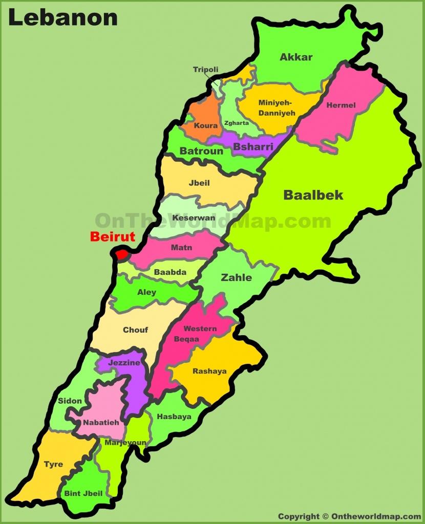 Lebanon Maps   Maps Of Lebanon - Printable Map Of Lebanon