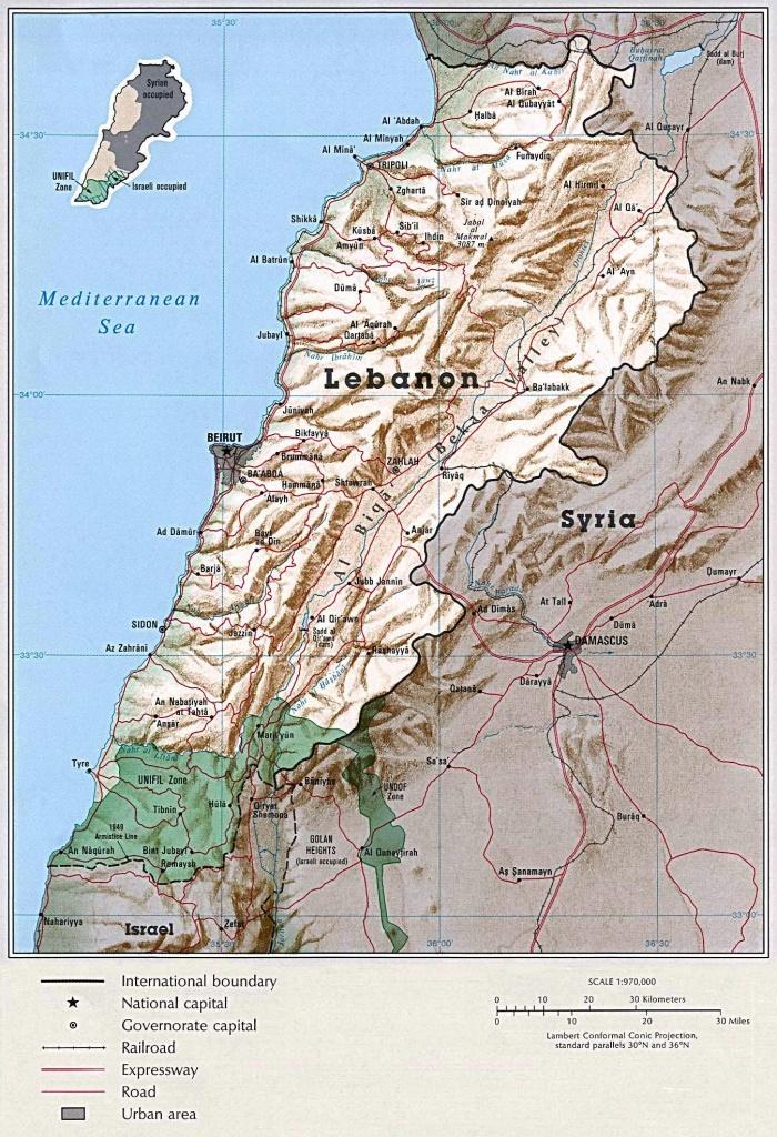 Lebanon Maps   Printable Maps Of Lebanon For Download - Printable Map Of Lebanon