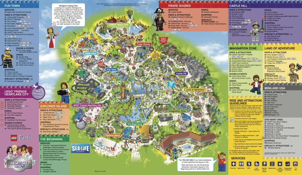 Legoland California & Sea Life Aquarium 1-Day Hopper Ticket - Free - Legoland California Water Park Map