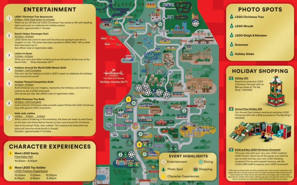 Legoland Florida Christmas Map - Coaster Kings - Christmas Florida Map