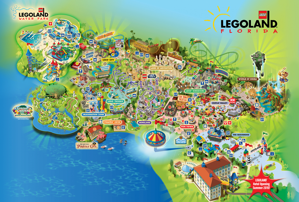 Legoland® Florida Is A 150-Acre Interactive Theme Park With More - Legoland Printable Map
