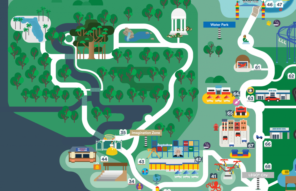 Legoland Florida Map 2016 On Behance - Legoland Map Florida