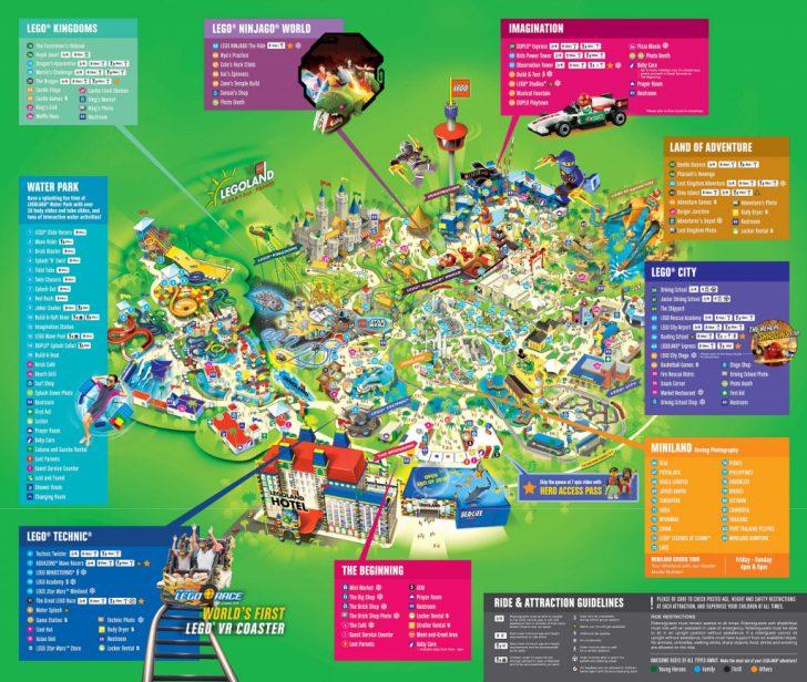 Legoland Map California 2018