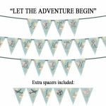 Let The Adventure Begin Vintage Map Printable Party Banner | Etsy   Printable Map Banner