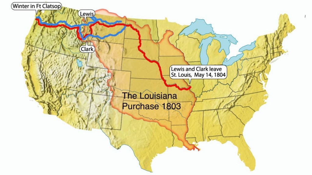 Lewis And Clark Expedition Of North America - Lessons - Tes Teach - Lewis And Clark Trail Map Printable
