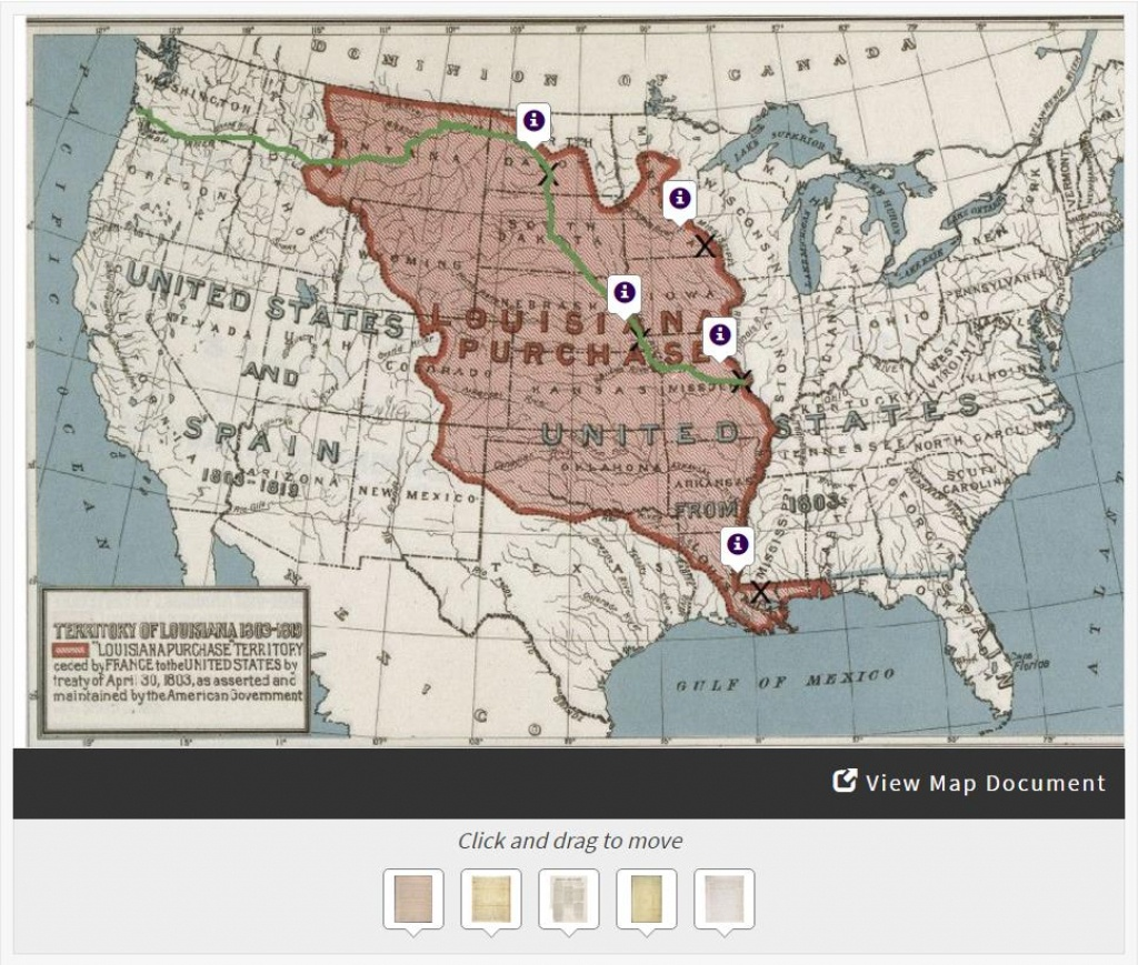 Lewis & Clark's Expedition To The Complex West | Docsteach - Lewis And Clark Expedition Map Printable