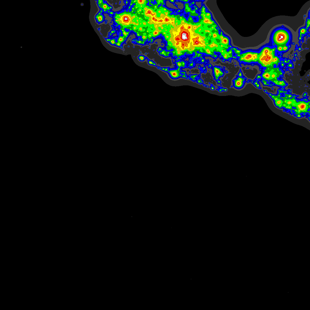 Light Pollution Map - Darksitefinder - Texas Night Sky Map