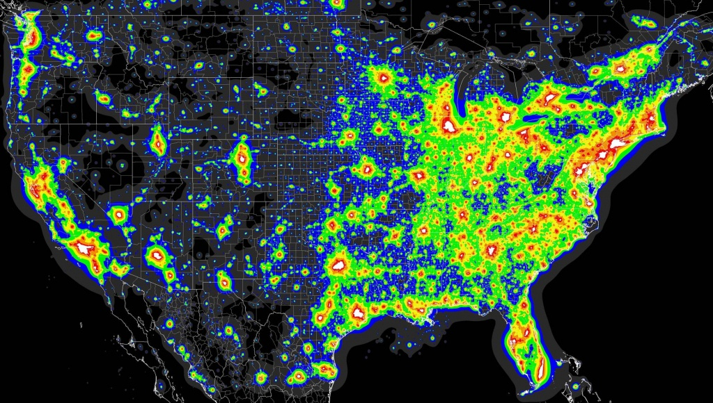 Light Pollution Map - (X-Post From Mapporn) : Astronomy - Light Pollution Map Florida