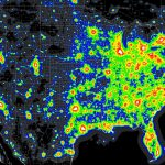Light Pollution Map   (X Post From Mapporn) : Astronomy   Light Pollution Map Texas