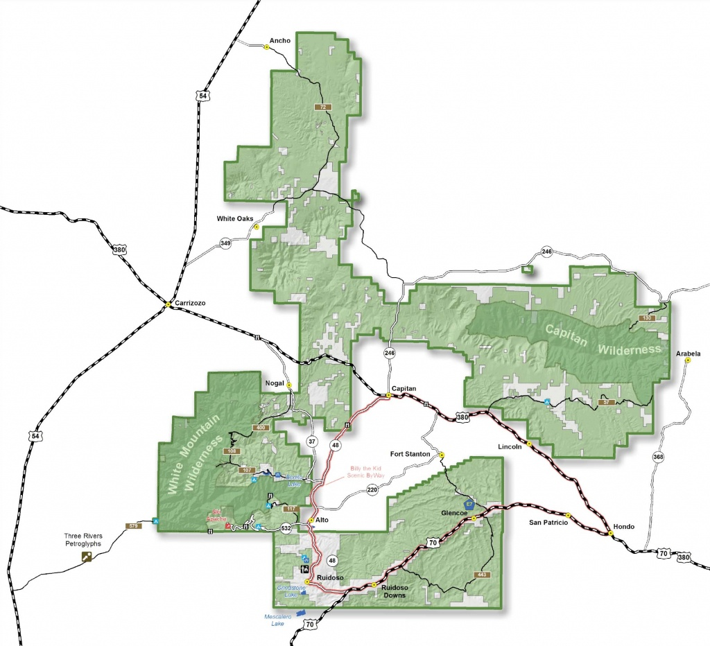 Lincoln National Forest - Districts - Texas National Forest Hunting Maps