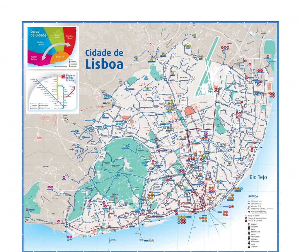 Lisbon Attractions Map Pdf - Free Printable Tourist Map Lisbon - Lisbon Tourist Map Printable
