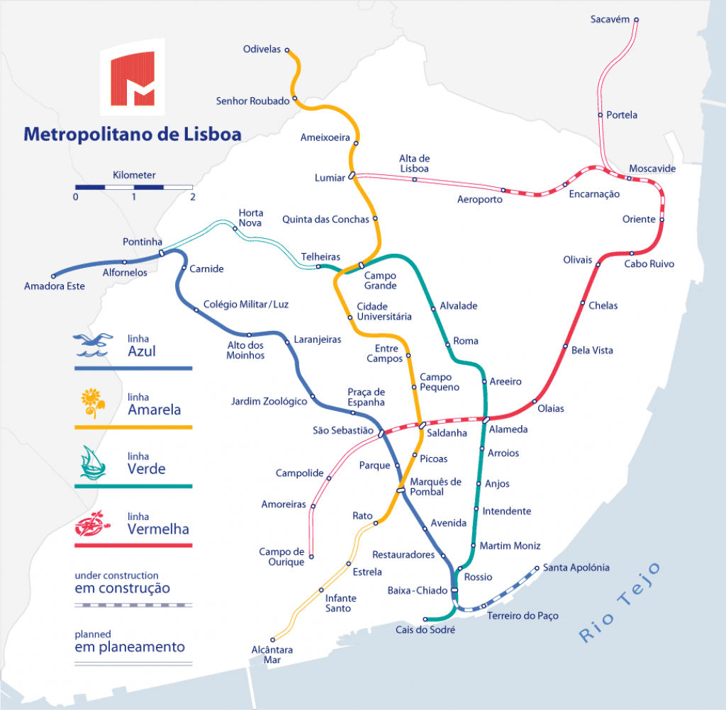 Lisbon Metro - The Fastest Way To Get Around Lisbon - Lisbon Metro Map Printable