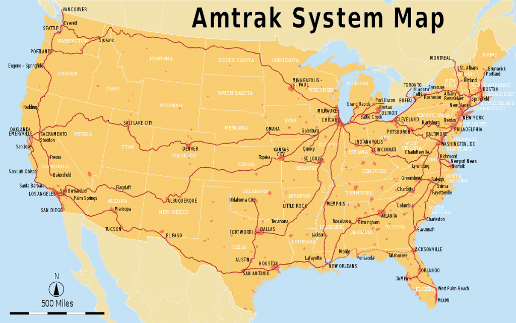 List Of Amtrak Routes - Wikipedia - Map Of Amtrak Stations In Texas