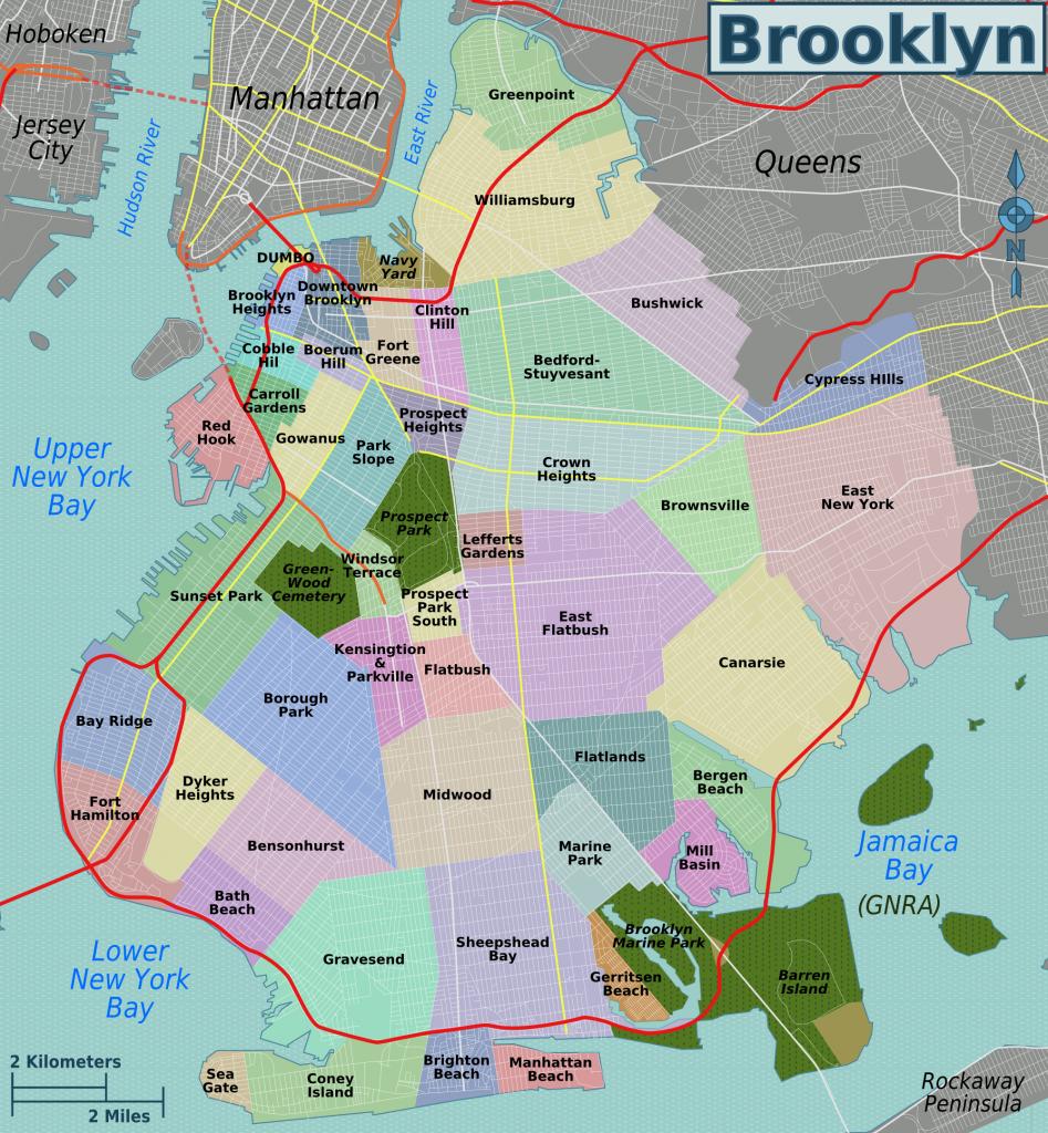 List Of Brooklyn Neighborhoods - Wikipedia - Printable Map Of Brooklyn Ny Neighborhoods