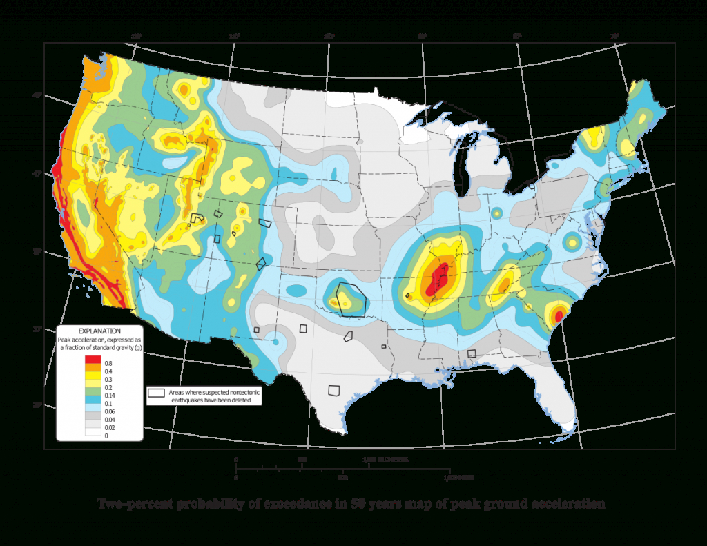 List Of Earthquakes In The United States - Wikipedia - Florida Earthquake Map
