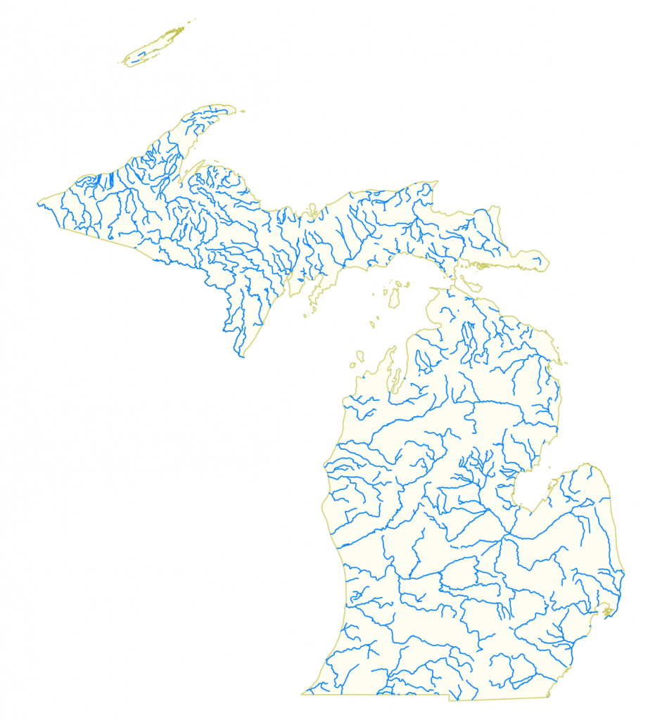 List Of Rivers Of Michigan - Wikipedia - Michigan River Map Printable