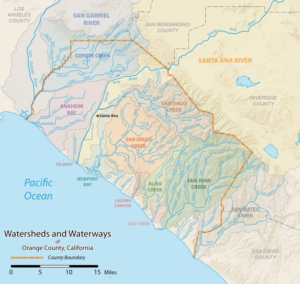 List Of Rivers Of Orange County, California - Wikipedia - Southern California Rivers Map