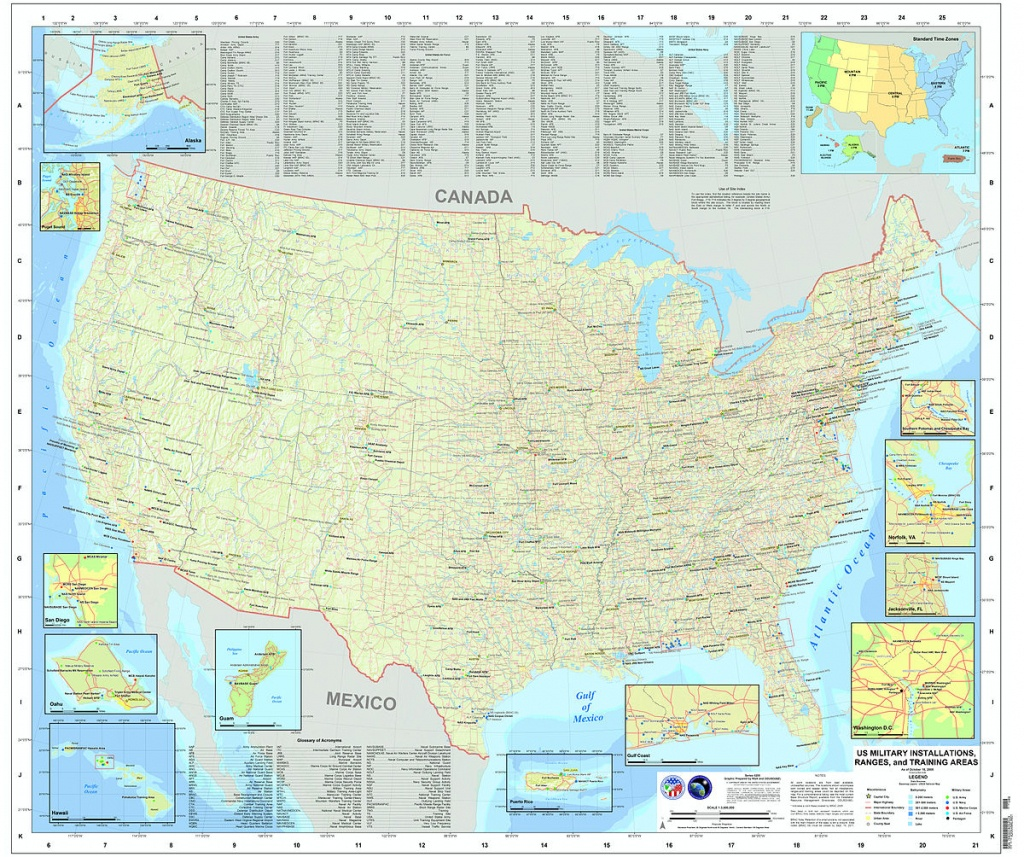 List Of United States Military Bases - Wikipedia - Map Of Army Bases In California