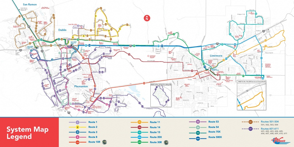 Livermore Amador Valley Transit Authority : System Map - Map Of Dublin California Area