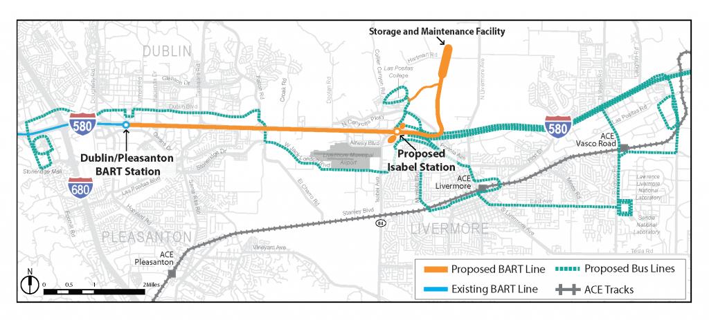 Livermore Extension | Bart.gov - Map Of Dublin California Area