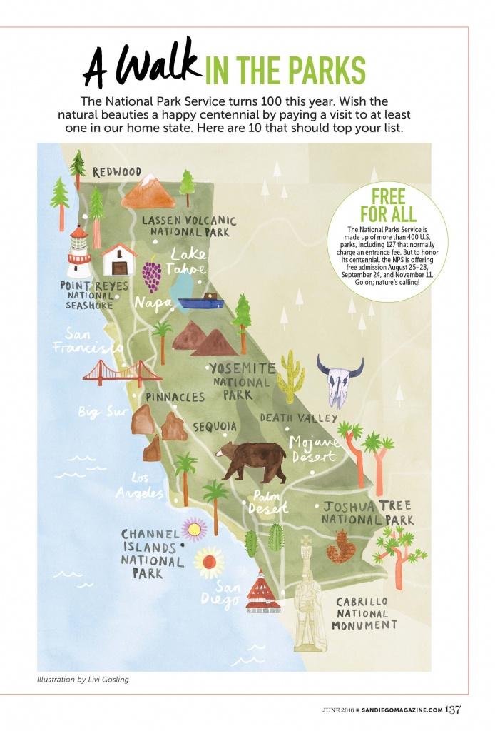 Livi Gosling - California National Parks #map #california #ca - Northern California State Parks Map