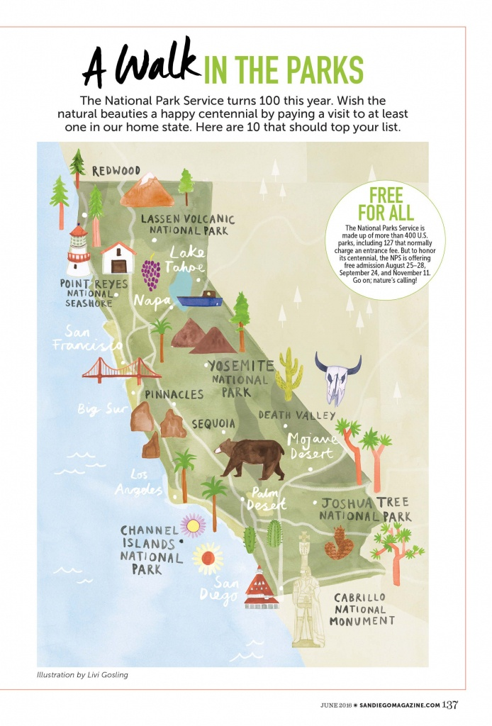 Livi Gosling - Map Of California National Parks   I'll Go Anywhere - California State Parks Camping Map