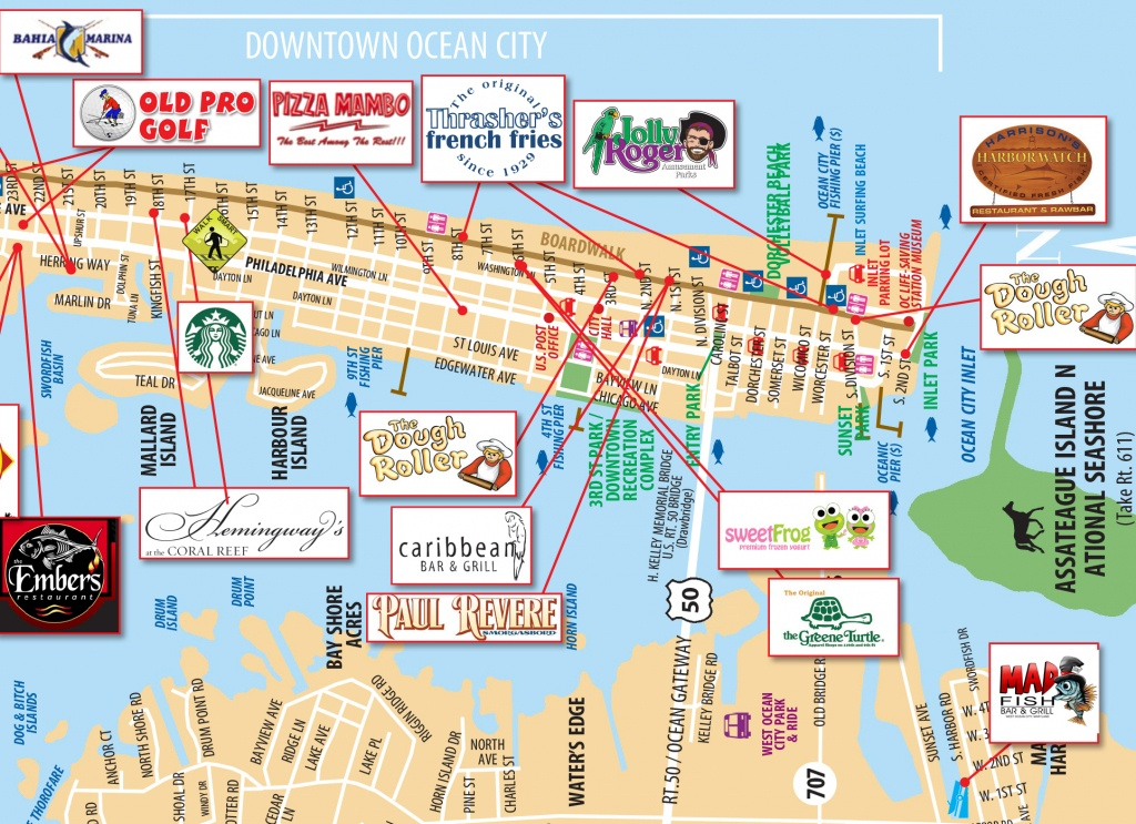 Local Maps   Ocean City Md Chamber Of Commerce - Printable Map Of Ocean City Md Boardwalk