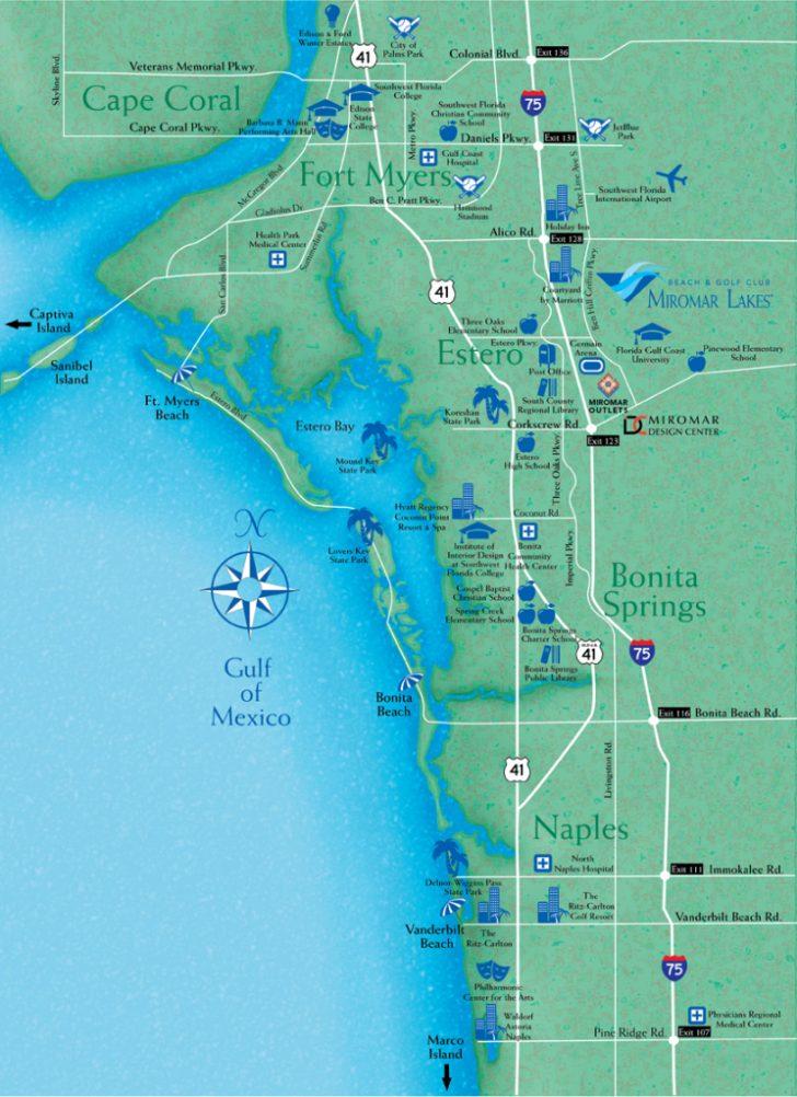 Estero Beach Florida Map