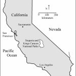 Location Map Of Sequoia And Kings Canyon National Parks, California   California National Parks Map