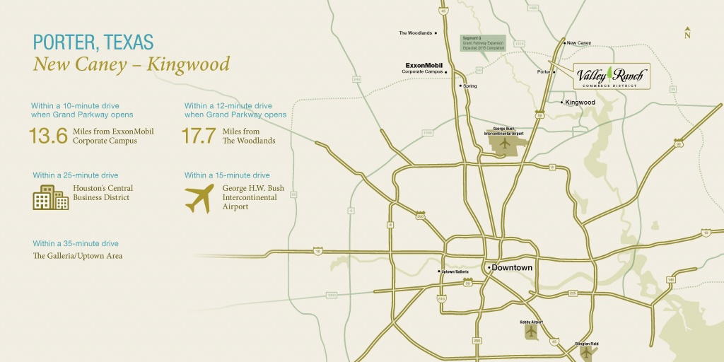 Location Of Our Community Near Kingwood | Valley Ranch - Porter Texas Map