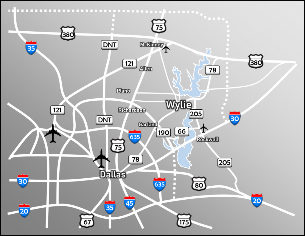 Location & Transportation | Wylie, Tx - Wylie Texas Map