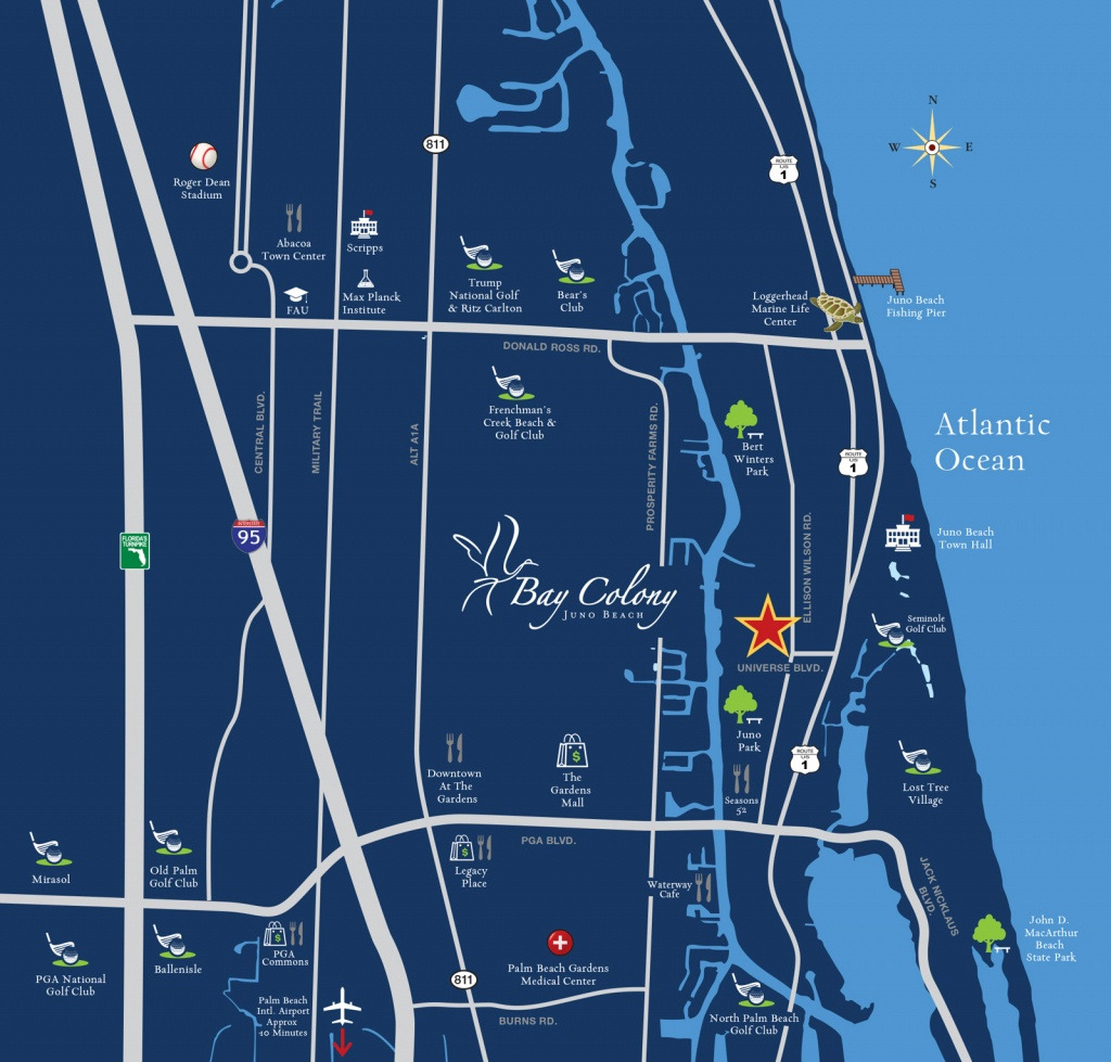 Locator Map - Bay Colony Juno Beach | Waterfront Homes - Juno Beach Florida Map