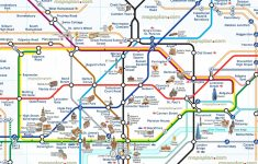 London Attraction Map With Tube – Uk Map   Map Of London Attractions Printable