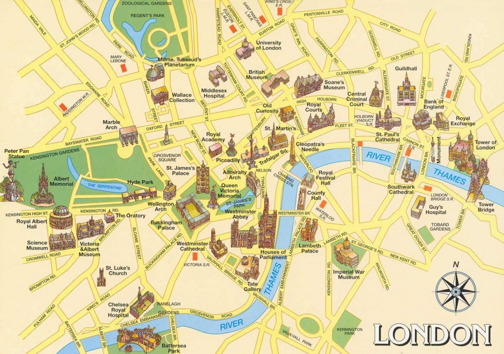 London Attractions Map Pdf - Free Printable Tourist Map London - London Sightseeing Map Printable