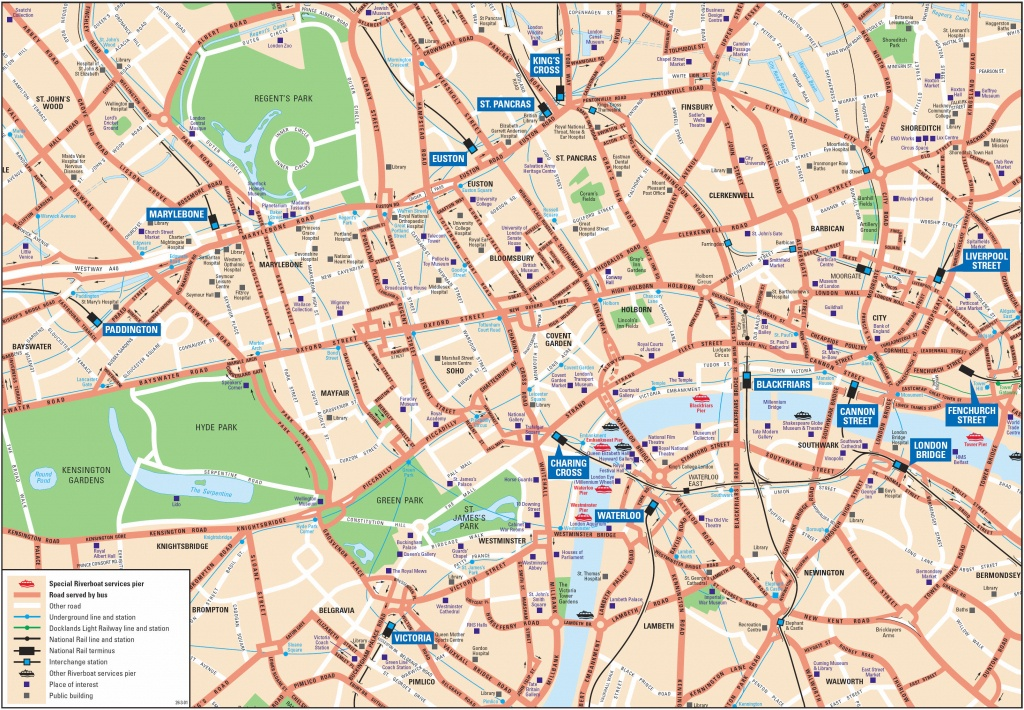 London Attractions Map Pdf - Free Printable Tourist Map London - Printable Map Of London England