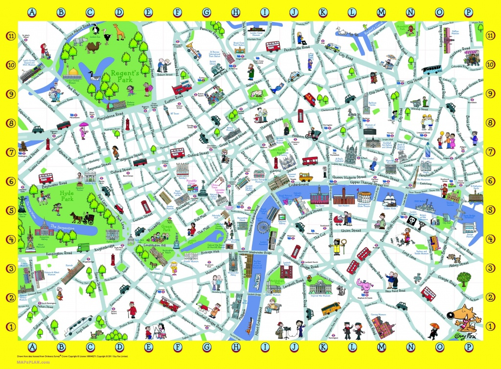 London Detailed Landmark Map | London Maps - Top Tourist Attractions - Printable Children's Map Of London