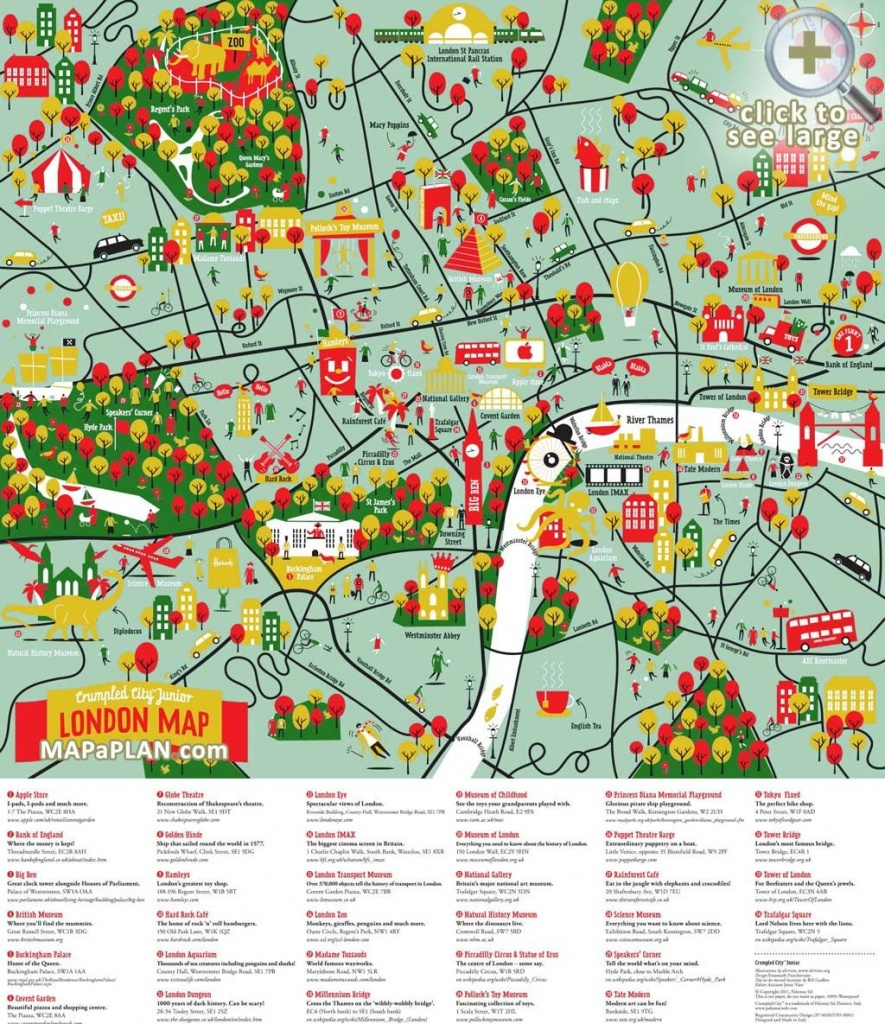 London Maps - Top Tourist Attractions - Free, Printable City Maps - Printable City Maps
