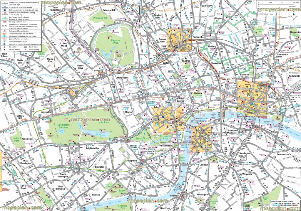 London Maps – Top Tourist Attractions – Free, Printable City Street - Free Printable City Street Maps
