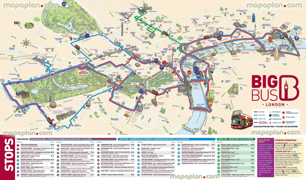 London Maps - Top Tourist Attractions - Free, Printable City Street - Printable Map Of London With Attractions
