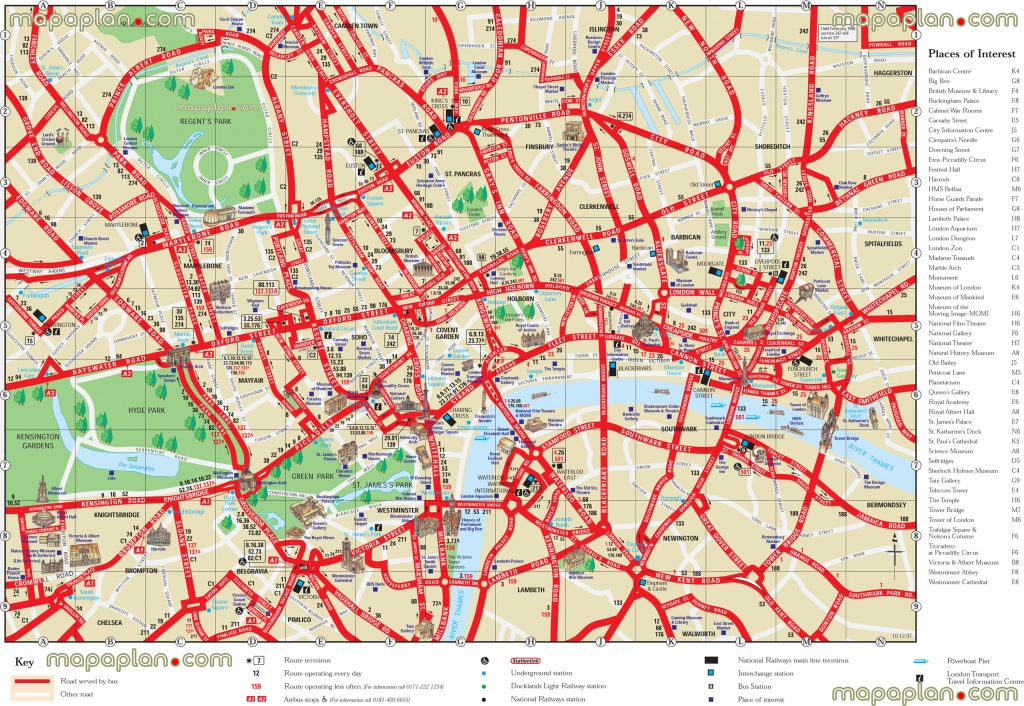 London Maps - Top Tourist Attractions - Free, Printable City Street - Printable Travel Map