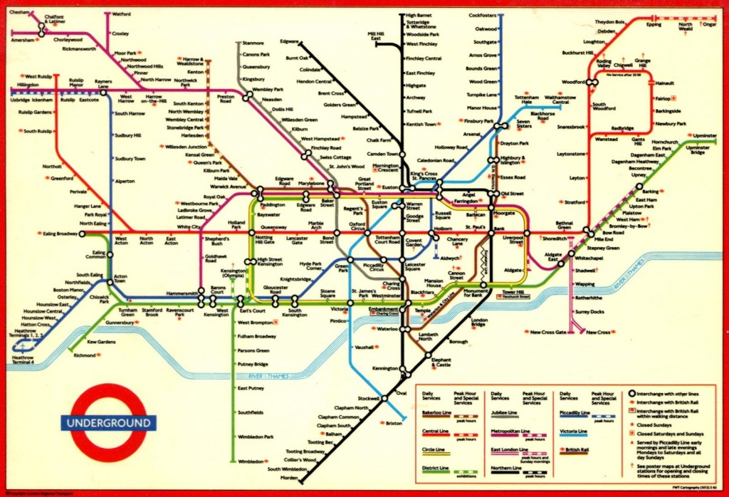 London Underground Map And Printable - Capitalsource - Printable London Underground Map