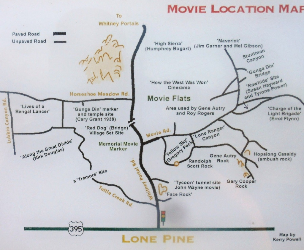 Lone Pine Ca Map |  Alabama Hills - Lone Pine, Ca - Face Rock - Lone Pine California Map