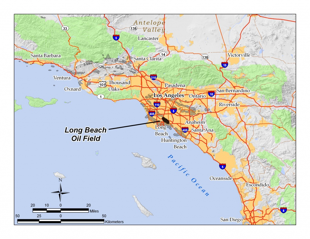 Long Beach Oil Field - Wikipedia - Map Of Long Beach California And Surrounding Areas