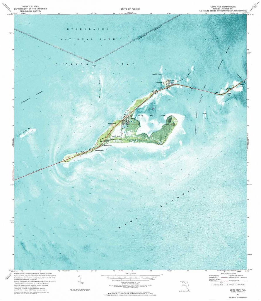 Long Key Topographic Map, Fl - Usgs Topo Quad 24080G7 - Florida Keys Topographic Map