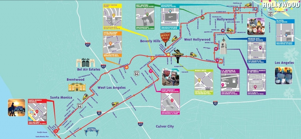 Los Angeles California Attractions Map – Map Of Usa District - Map Of Los Angeles California Attractions