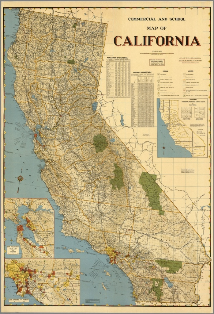 Los Angeles County Township Range Map – Map Of Usa District - California Township And Range Map