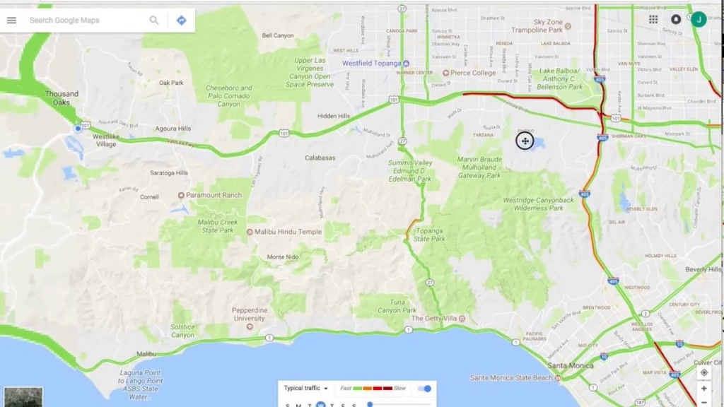 Los Angeles Traffic Map Live – Map Of Usa District - Google Maps Calabasas California