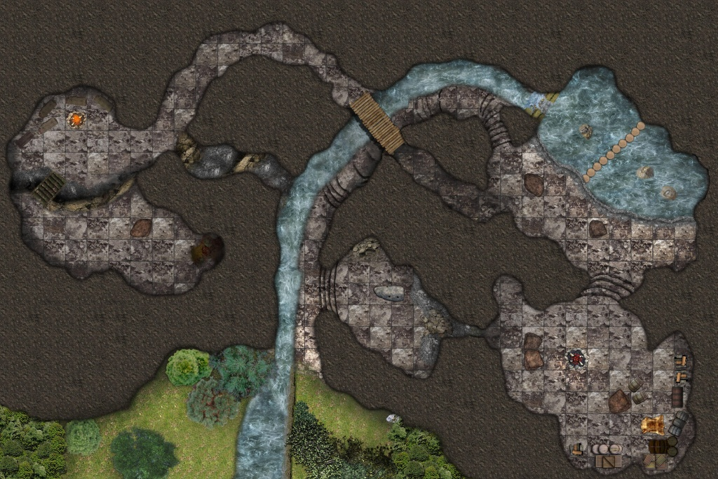 Lost Mine Of Phandelver: Cragmaw Hideout And Cragmaw Castle - Lost Mine Of Phandelver Printable Maps